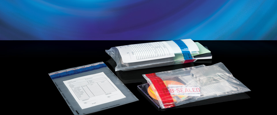 X-Safe disposable dual-trip bags integrate two security tapes instead of the usual one. One tape is used for the first trip, which is then ripped off and replaced with the second tape to re-seal.