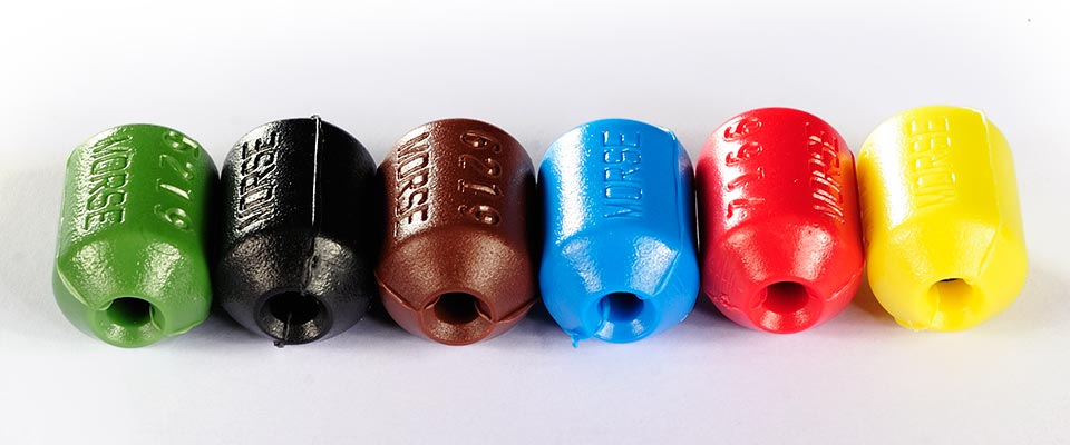 Hubs are available in a variety of colours, useful for colour coding.