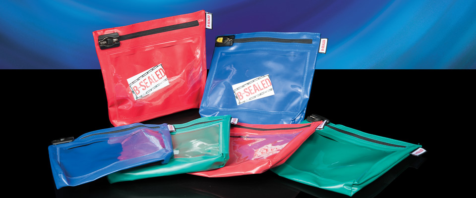 Cash bags have a bottom gusset to allow bulkier items such as coins to fall to the bottom and accumulate.
