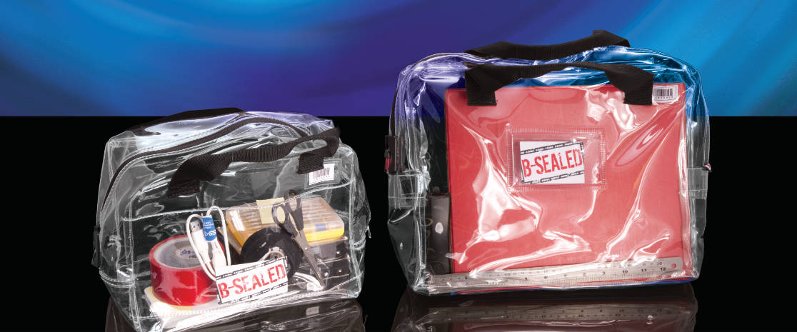 Clear kit bags are designed to be completely see through so that the contents may be inspected.