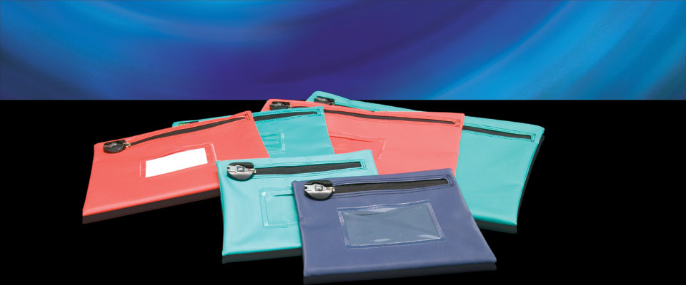 Envelope type security bags are thin and compact - suitable for documents and bank notes.