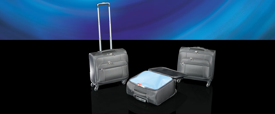 Resembling a standard luggage roller, the roller security bag is a discrete way of carting items around without using conspicuous security bags.