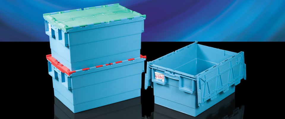 The Attached Lid Container has integrated lids to avoid extra handling and prevent losing the lids. They're strong and versatile, and when used in conjunction with a pull-tight security seal, are secure and tamper evident.